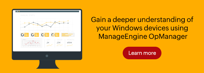 Windows network monitoring made easy with OpManager