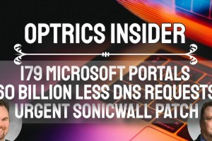 Optrics Insider - 179 Microsoft Admin Portals, 60 Billion Less DNS Requests & Urgent SonicWall Patch