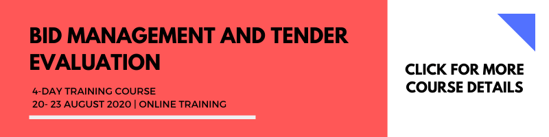 Bid Management and Tender Evaluation 20-23 Aug 2020 Online Training
