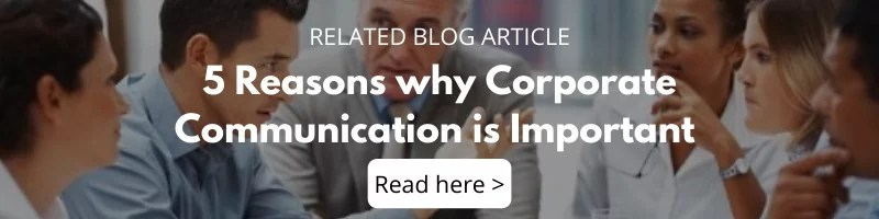 Blog - 5 reasons why corporate communication is important