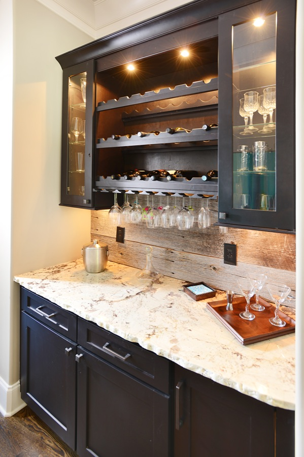 Sole Design Cabinetry. Jamestown door style. Rustic Alder, stained Espresso.