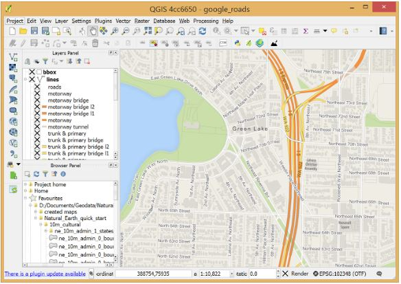 map using QGIS