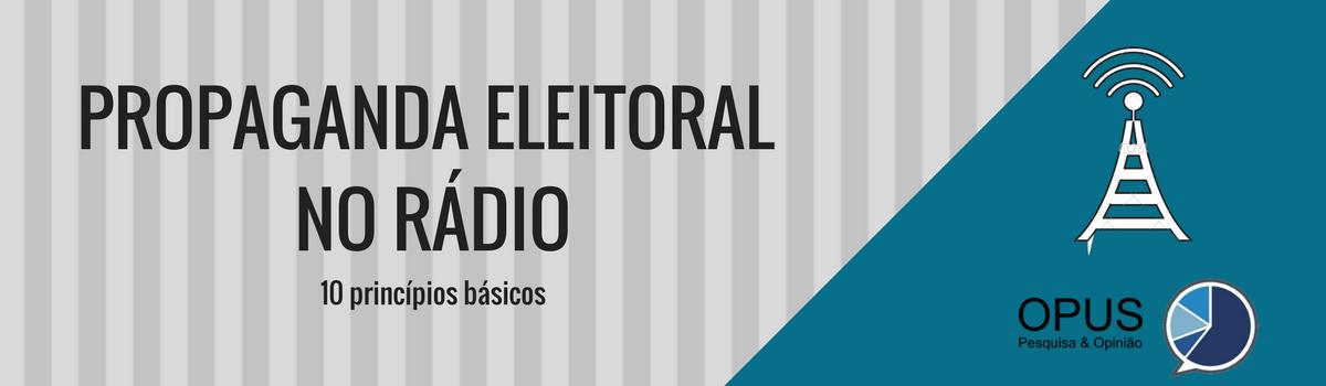 Propaganda eleitoral no rádio