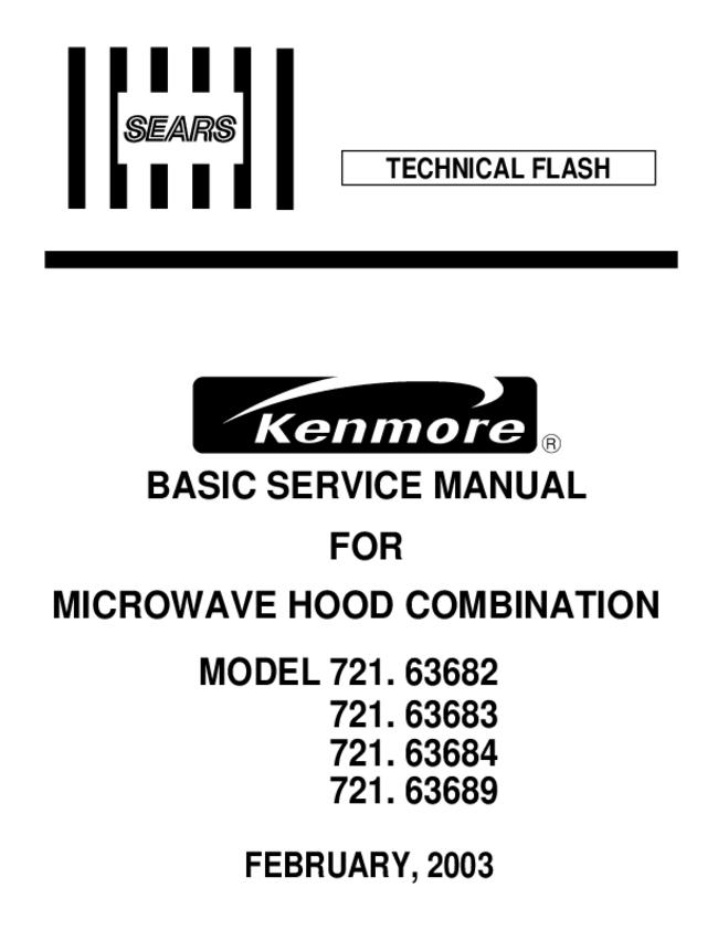 Kenmore Microwave Owner Manual