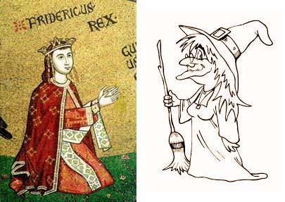 Una strega malvagia contro Federico III e la Sicilia