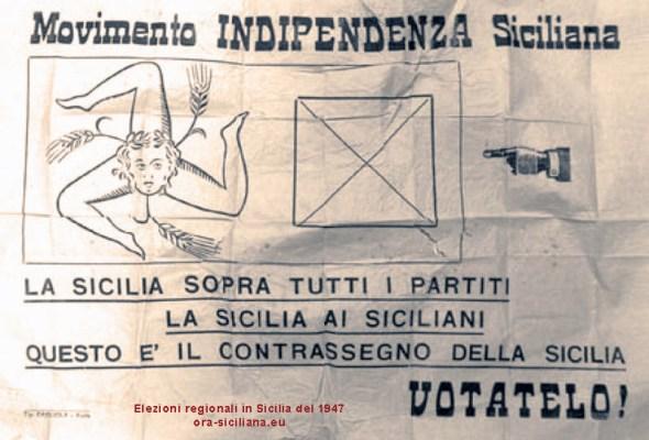 Sicilia indipendente scheda elettorale 1947