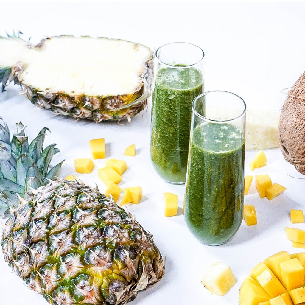 Vegan Tropical Pineapple Smoothie