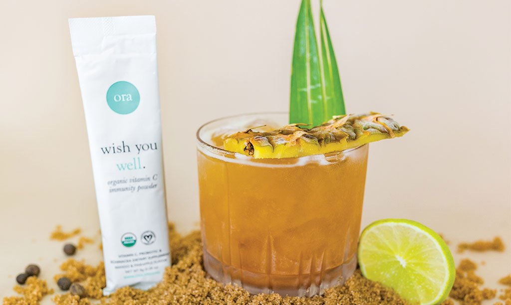 Healthy Rum Cocktail