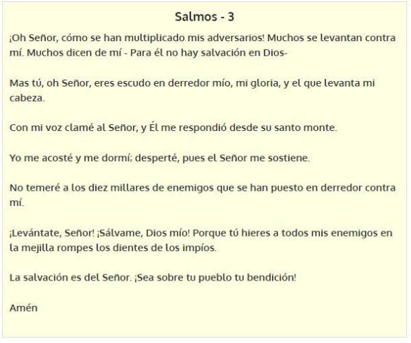 Oración de Protección - Salmos 3