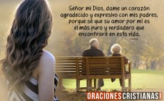 Oración para mostrar amor y agradecimiento a los padres