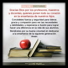 Oración por los profesores, maestros y docentes