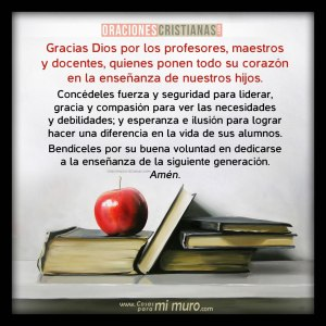 Imagen de oración por los profesores