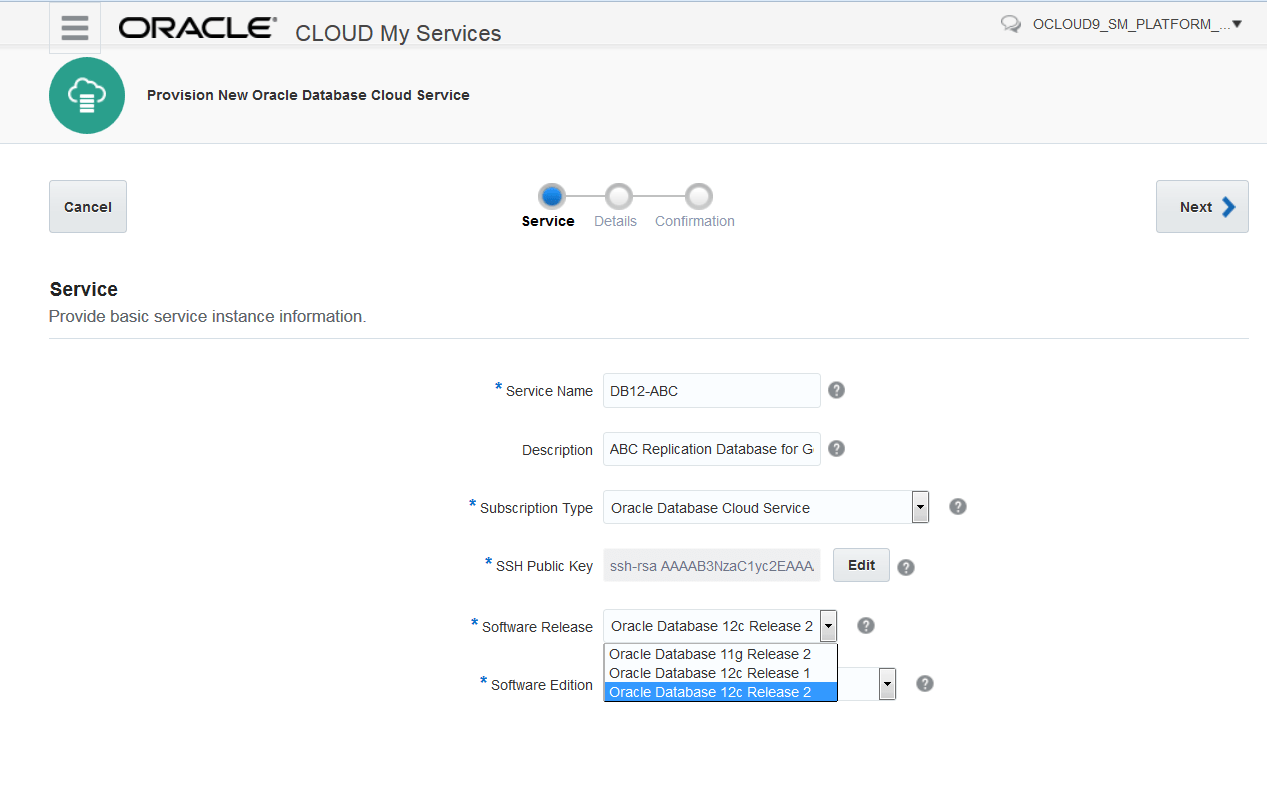Get Started with GoldenGate Cloud Service