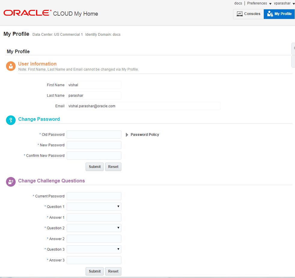 Manage Users and Roles in Oracle Cloud