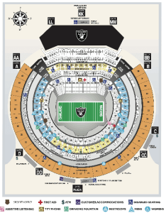 Oakland raiders seating chart also charts oracle arena and alameda county coliseum rh oraclearena