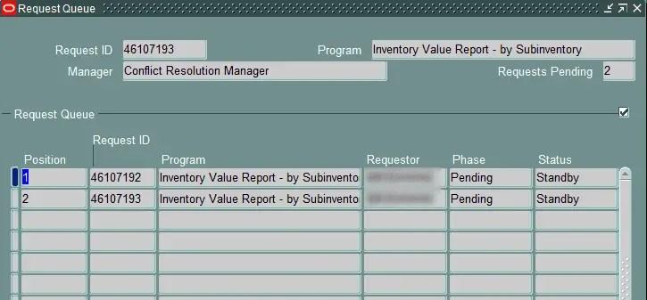 conflict Manager Queue