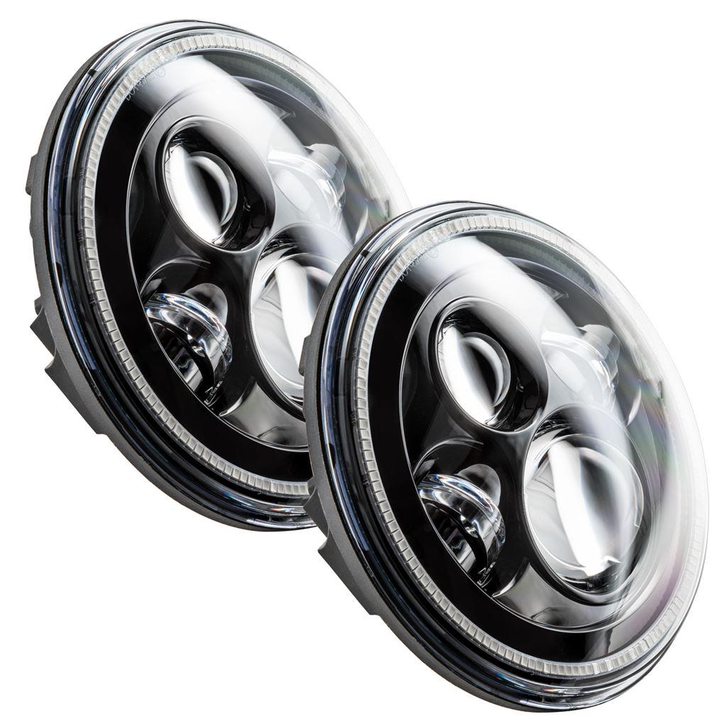"Oracle Lights 5769-001 7/"" High Powered LED Headlights Black Bezel White"