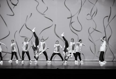 hip hop dancers flipping