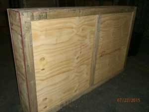 fragile ites in crate ready to be shipped from jamaica