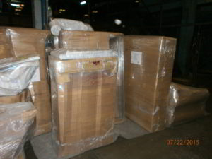 items packed and padded to be shipped