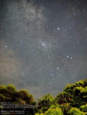 天蠍座尾巴和 M6 M7 星團