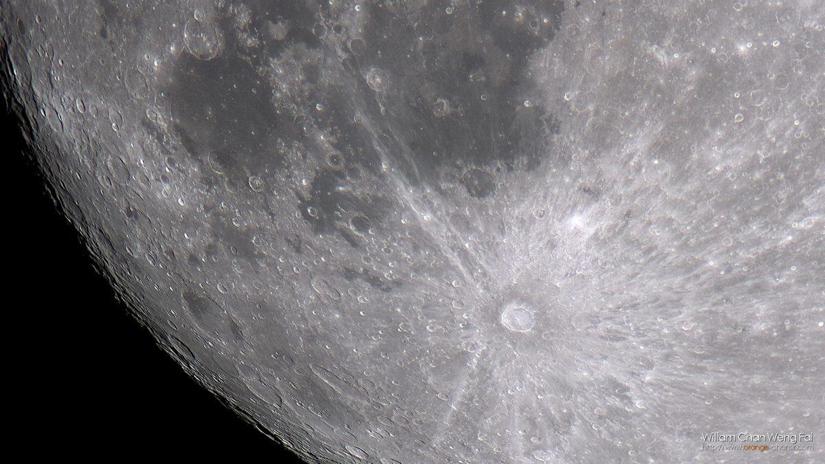 月球第谷坑一帶
