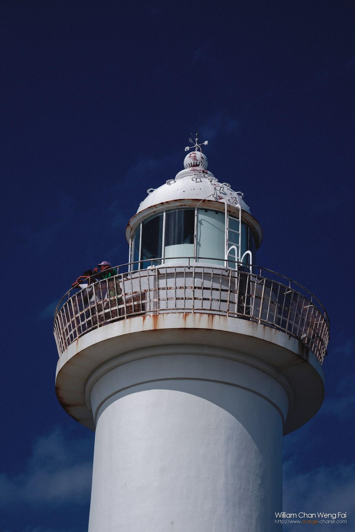 殘波岬燈塔,超級蔚藍的天空。