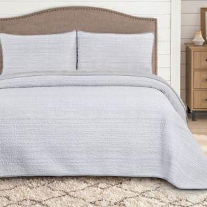 grey-stripe-غطاء-سرير-مزدوج-3-قطع