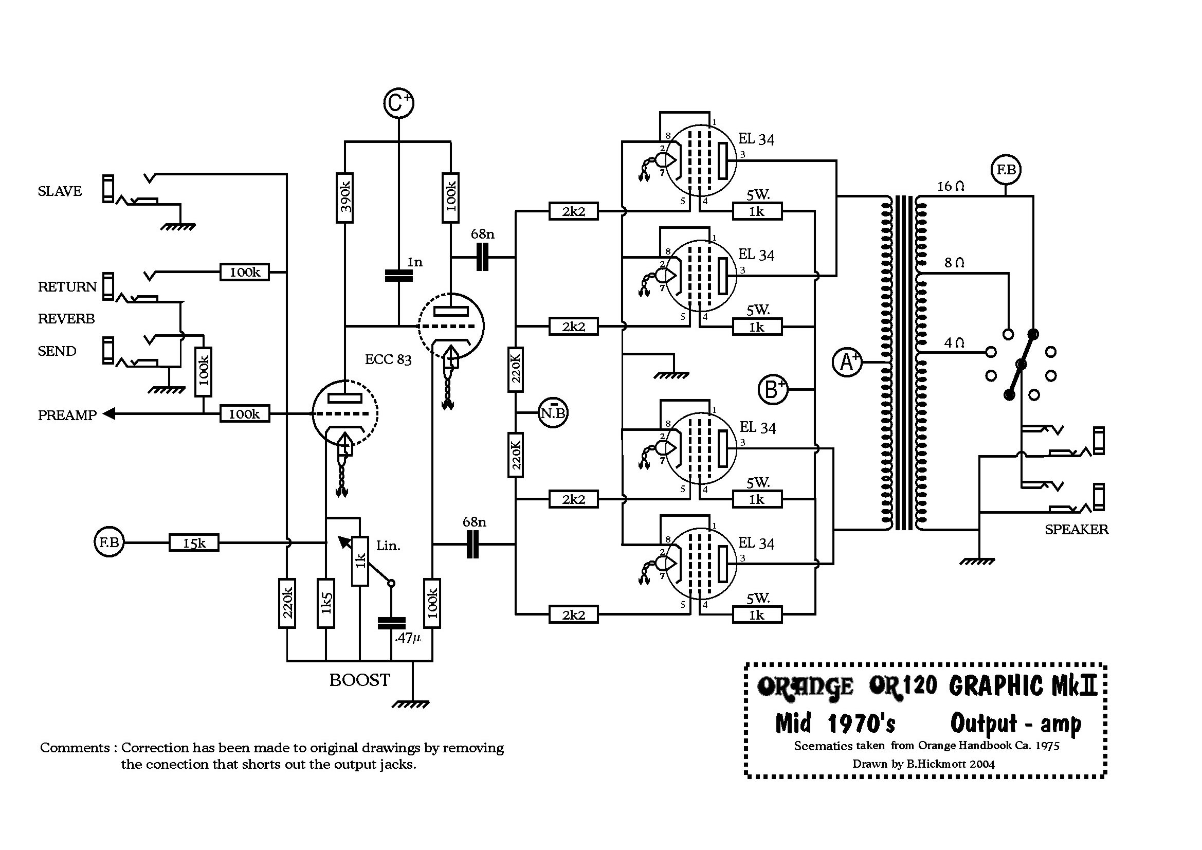 Or120 Mid 70s Power Amp Or120 Mid 70s Power Supply