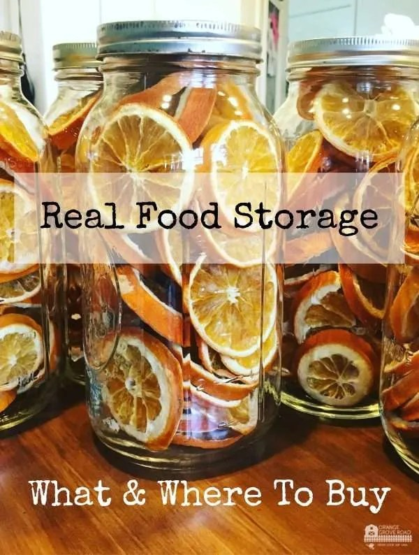 Real Food Storage, What and Where to Buy
