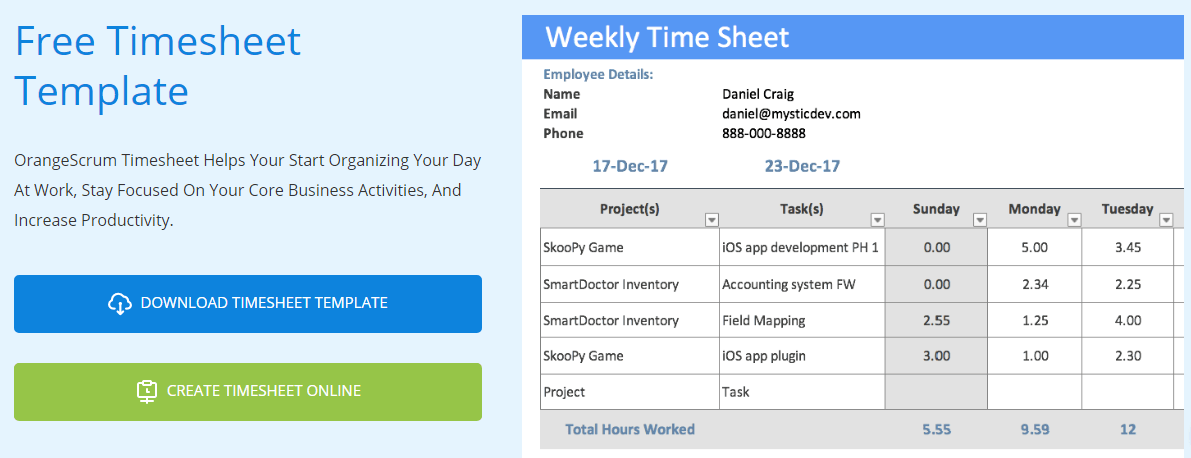 However, it can do more than that. Timesheet Template Project Management Timesheet Template Orangescrum