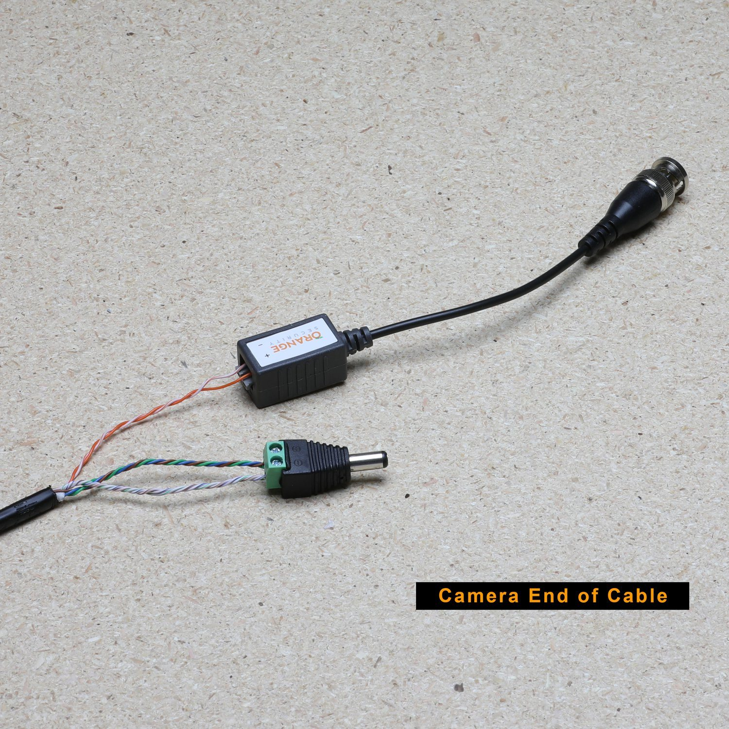 hight resolution of cat5e wiring guide connections fitted at the camera end of the cable