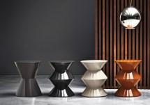 Cesar Designed Rodolfo Dordoni Minotti Orange Skin