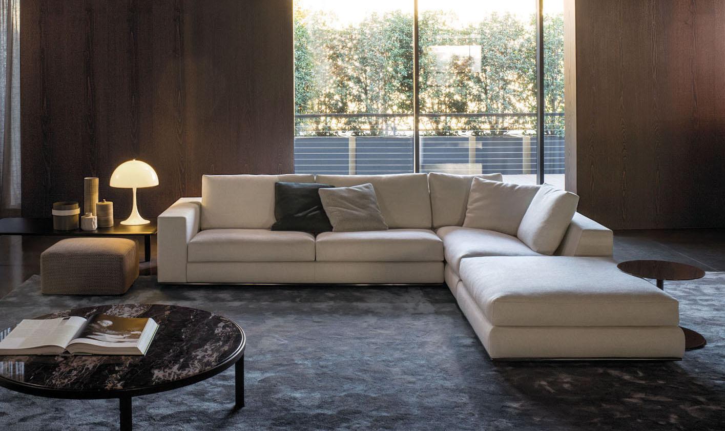 sectional sofa on sale black and white striped fabric hamilton modulo | designed by rodolfo dordoni, minotti ...