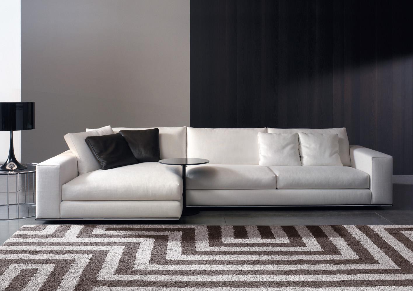 orange fabric sectional sofa cream bonded leather hamilton | designed by rodolfo dordoni, minotti ...
