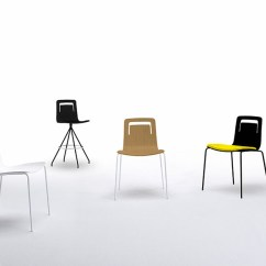 Stackable Chairs With Arms Cheap Lycra Chair Covers For Sale Klip | Designed By Victor Carrasco, Viccarbe, Orange Skin