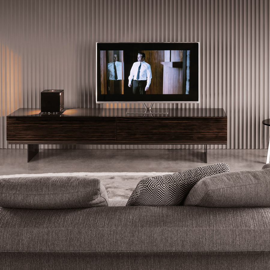 modern table for living room pictures of black and white designs minotti lang cabinet orange skin