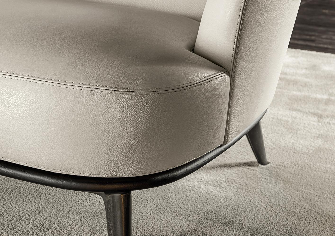 Leslie Sofa  Designed by Rodolfo Dordoni Minotti Orange Skin