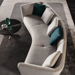 Orange Fabric Sectional Sofa Hancock And Moore Leather Sofas Seymour Lounge | Designed By Rodoflo Dordoni, Minotti ...