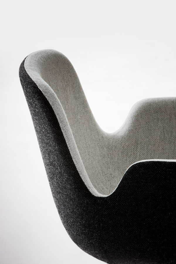 Pass Chair  Designed by Hee Welling LaPalma Orange Skin