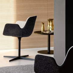 Chair Steel Base With Wheels High End Office Pass | Designed By Hee Welling, Lapalma, Orange Skin