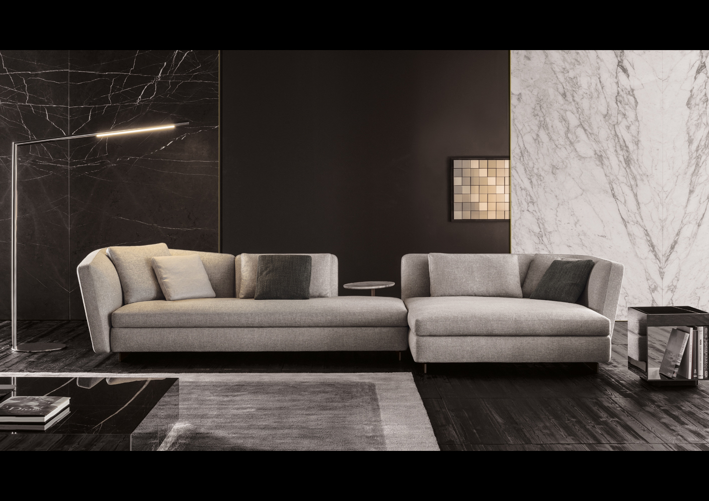 Seymour Sofa  Designed By Rodolfo Dordoni Minotti Orange SKin