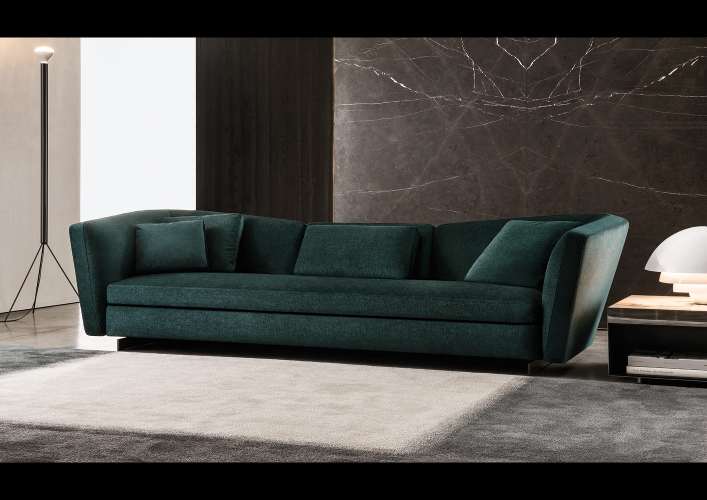 Seymour Sofa  Designed By Rodolfo Dordoni Minotti Orange SKin