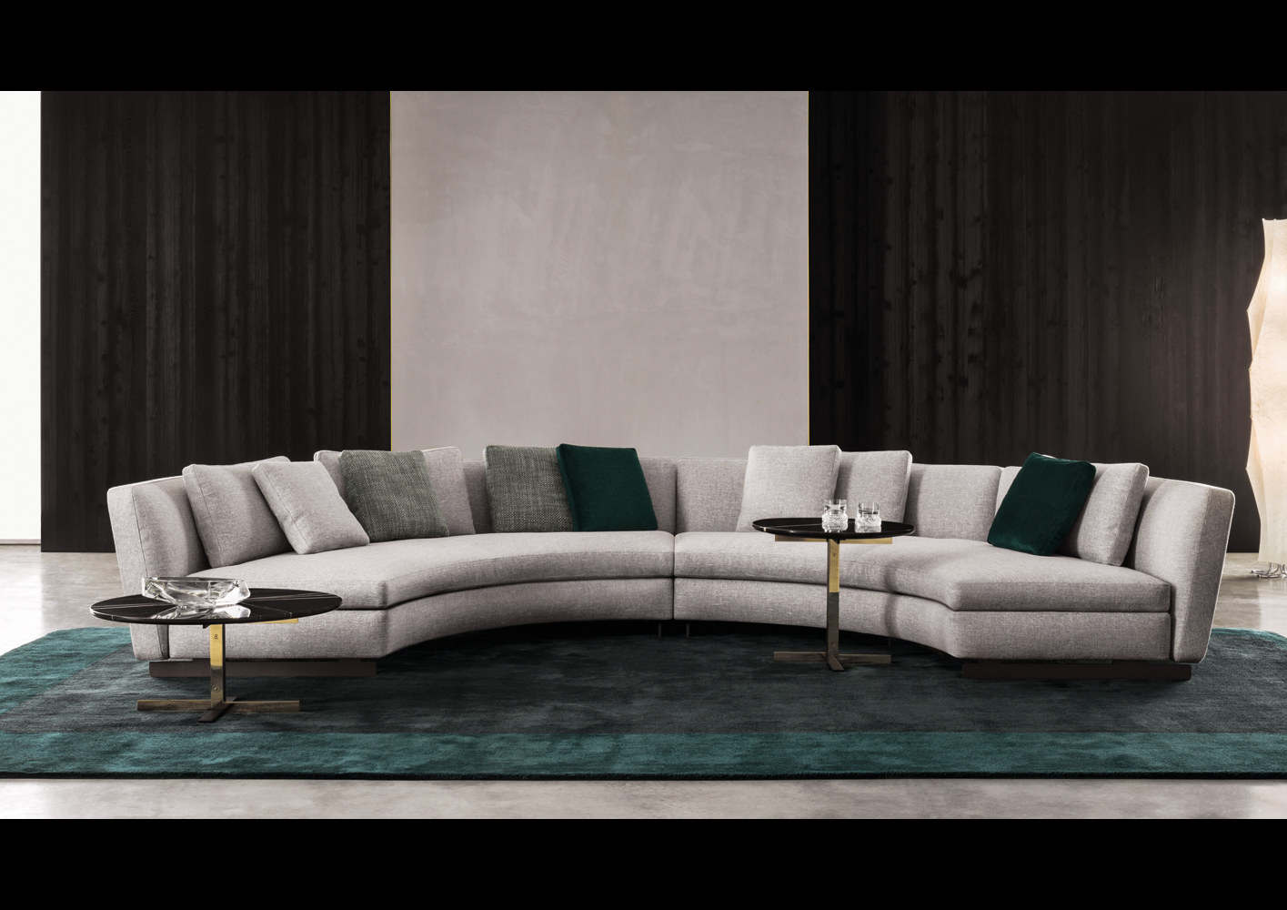 leather sofa with fabric seat cushions refilling seymour | designed by rodolfo dordoni, minotti ...