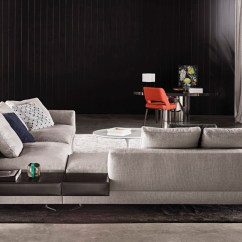Soft Sofa Material Small 2 Seater Leather Bed White   Designed By Rodolfo Dordoni, Minotti, Orange Skin