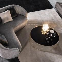 Soft Sofa Material Baseline Pris Jacques   Rodolfo Dordoni; Minotti, Orange Skin