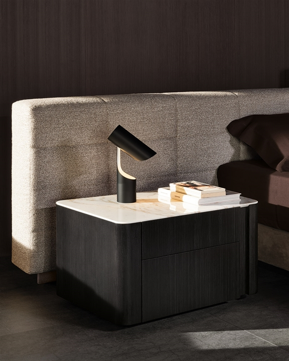 Lou Nightstand  Christophe Delcourt Minotti Orange Skin