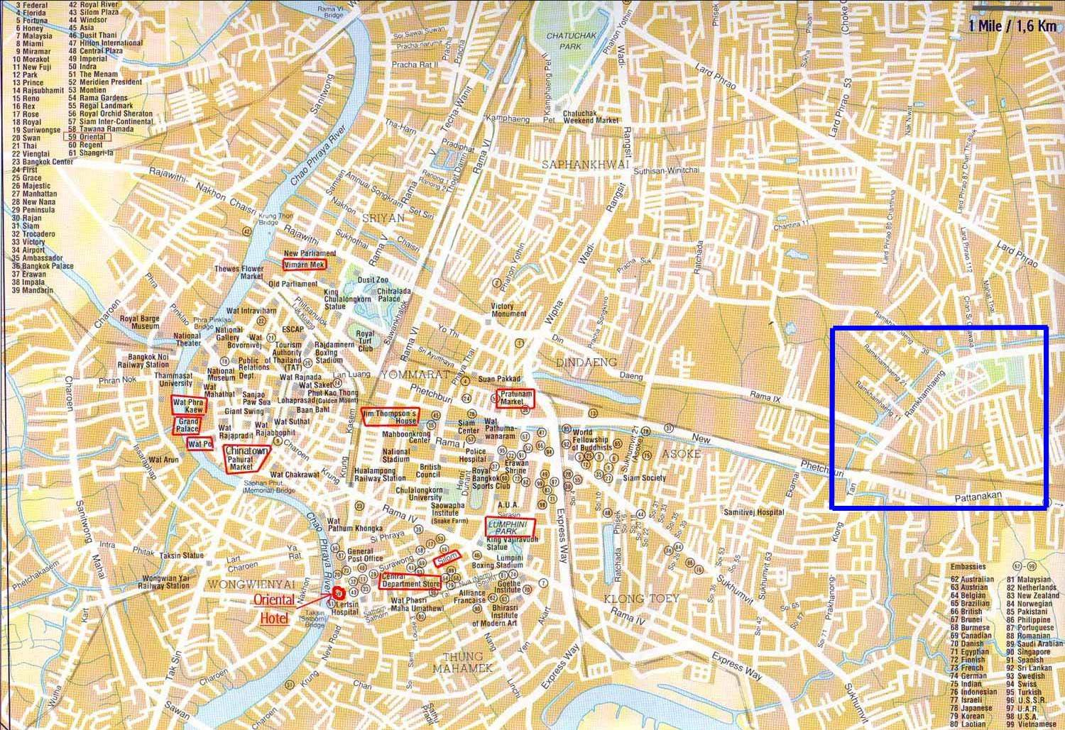 maps update 31122098 of bangkok for tourists u2017