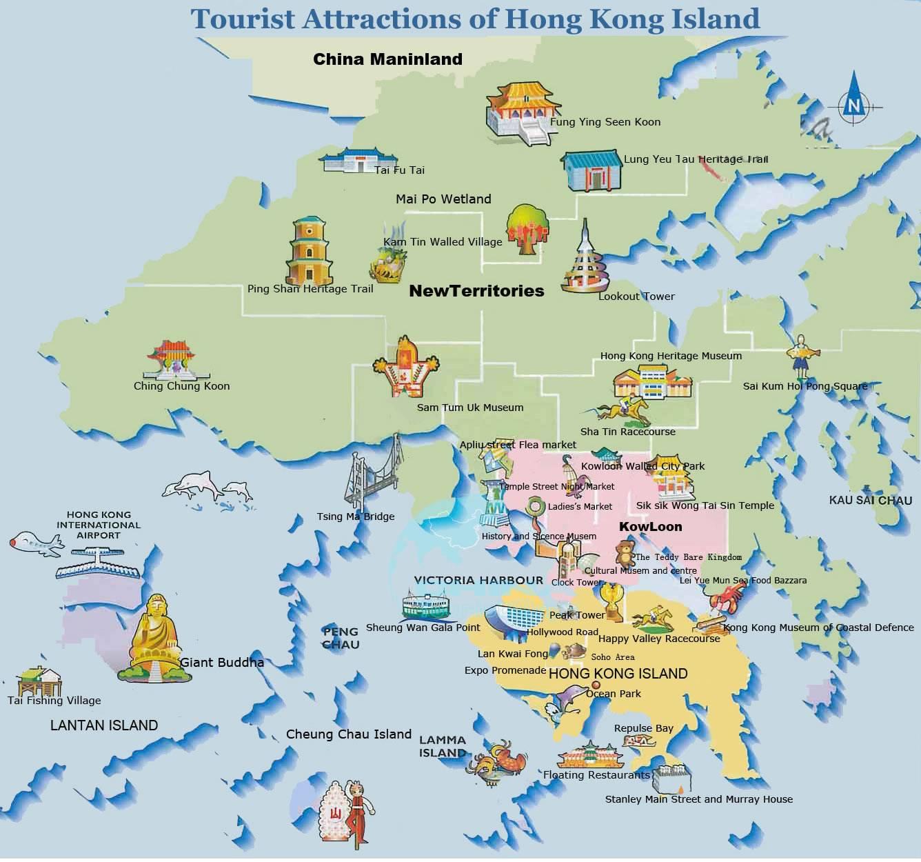 Kaarten van Hong Kong   Gedetailleerde gedrukte plattegronden van Hong Kong- OrangeSmile.com