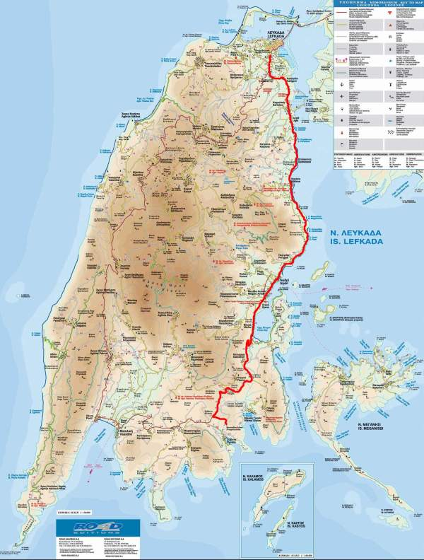 Large Lefkada Maps for Free Download and Print High